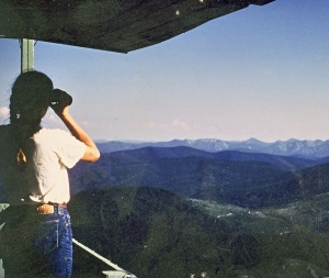 Looking for smokes, Middle Sister Lookout, 1984