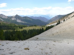 Fish Creek Pass, looking west